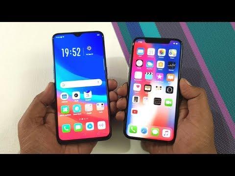 Oppo R17 Pro vs iPhone X Speed Test