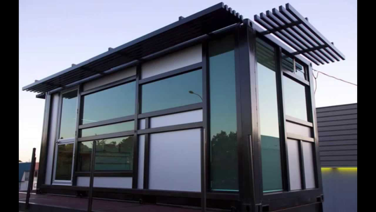 prefab shipping container home - one cool habitat  - youtube