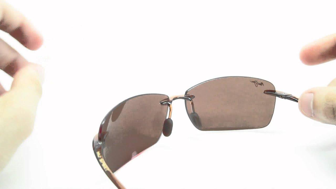 0f441984faaa Maui Jim Lighthouse MJ H423-26 Rootbeer Polarized Sunglasses - YouTube