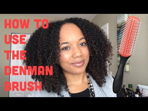 How To Use The Denman Brush For Curl Definition Youtube