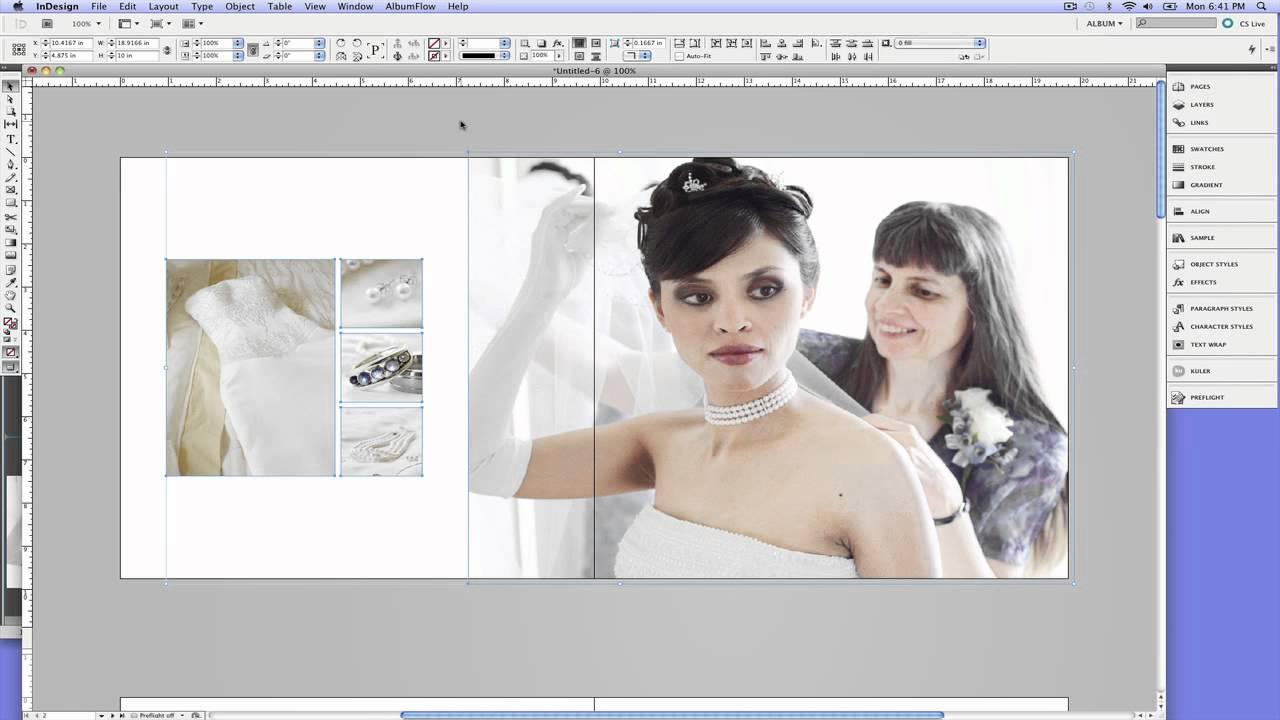 AlbumFlow for Adobe InDesign - YouTube