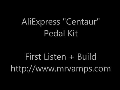 AliExpress Centaur DIY Guitar Pedal.  Sound Test & Assembly process