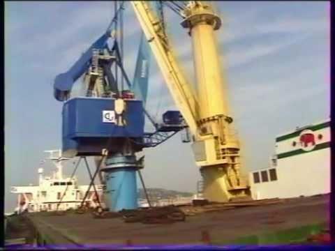 Une grue s'effondre dans le port de Sète