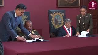 Tema:Convenio con el Ejército del Perú