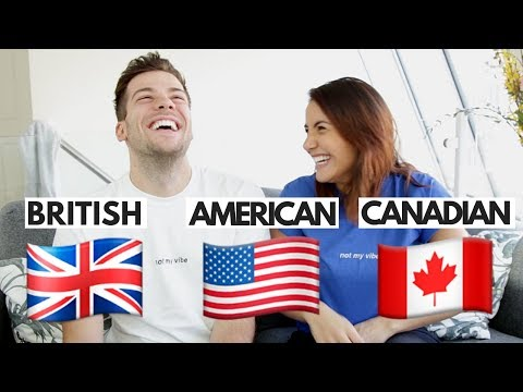 BRITISH VS AMERICAN VS CANADIAN ENGLISH 🇬🇧🇺🇸🇨🇦