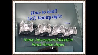How to install a bathroom vanity light step-by-step
