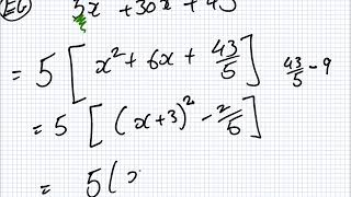 Maths for Science | 1819 Intake 1 | Lesson | Completing The Square