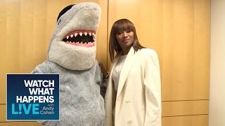 Cynthia Bailey Teaches Gay Shark How To Runway Walk - WWHL