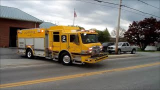 *PIERCE* Lampeter Fire Co Engine 54 2 Responding and House Siren Acitvation