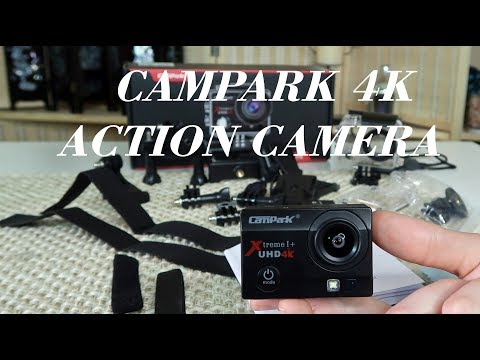 CAMPARK Action Camera 4K Wifi WATERPROOF ULTRA HD Demo & Review