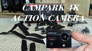 🍀CAMPARK ACT74 Action Camera (4K Wifi WATERPROOF) ULTRA HD  Demo & Review 👈