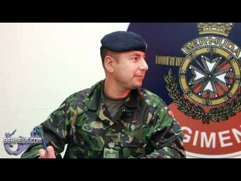 Bermuda Regiment Colonel and RSM on Recruitment