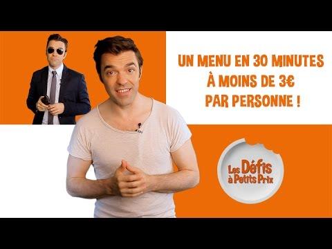 Un menu rapide en moins de 30 min à moins de 3 € - Défis à Petits Prix