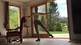 Danse classique exercice de jetés à la barre