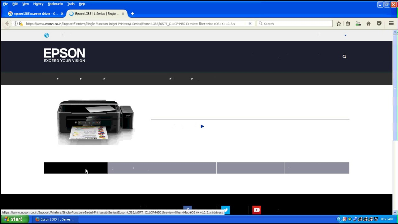 Epson L385 Printer, Scanner Driver, Download