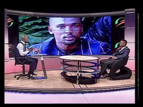 Thomas Mlambo, host of sport @ 10 interviews singer Nathi Manyaki