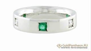 Обручальное кольцо из белого золота с бриллиантами и изумрудами Damiani 504848(, 2015-04-27T12:51:27.000Z)