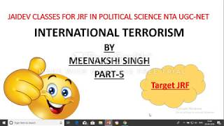 International Terrorism Part-5(in Hindi)