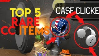 [Roblox] TOP 5 MOST RARE & EXPENSIVE CASE CLICKER ITEMS! (Dominus Americus & MORE)