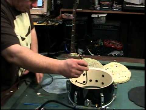 how to make an electronic drum trigger out of an acoustic drum diy youtube. Black Bedroom Furniture Sets. Home Design Ideas