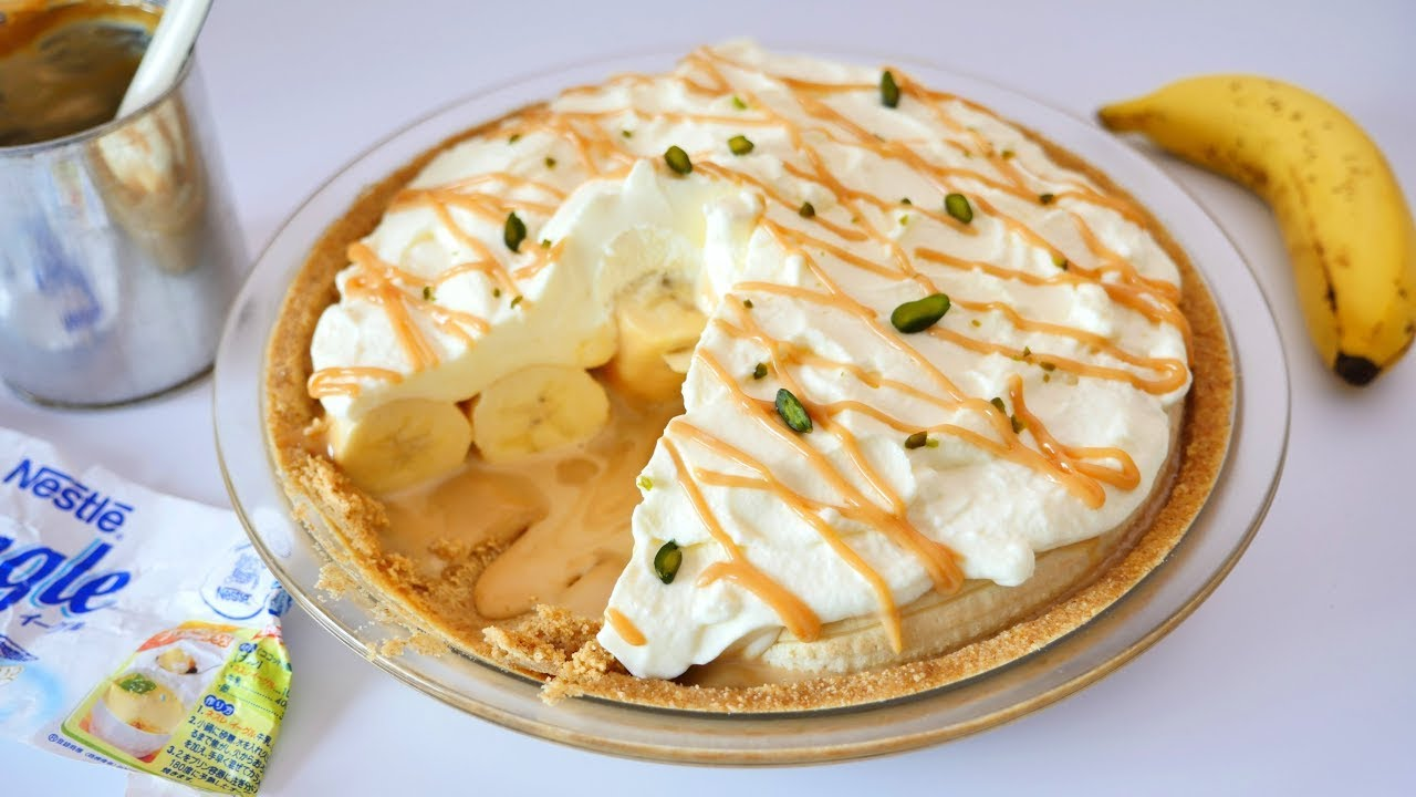 Banoffee Pie ( Banana & Toffee Pie ) バノフィー・パイ