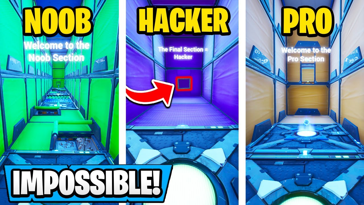 IMPOSSIBLE Jump in Noob vs Pro vs Hacker Deathrun! | Fortnite Creative