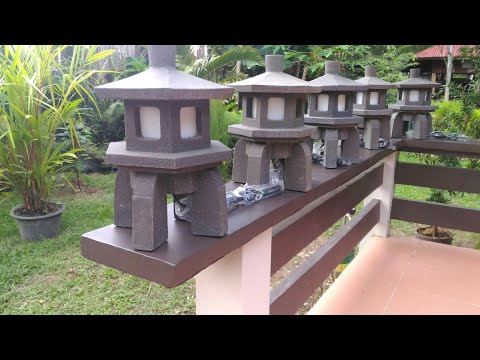 🔺Making a Concrete Lamp ¦ for Zen garden ¦ indoor & outdoor