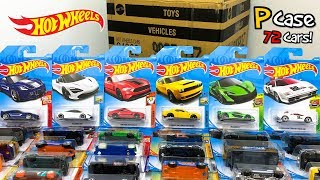 Unboxing Hot Wheels 2018 P Case 72 Car Assortment!