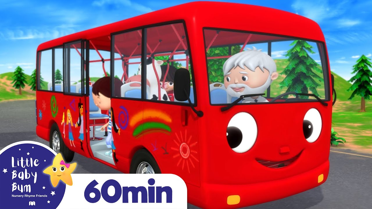 Wheels On The Bus Part 14 | Vehicle Songs & Nursery Rhymes | ABCs & 123s | Little Baby Bum