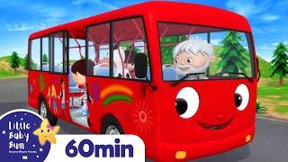 Download lagu Wheels On The Bus Part 14 | Vehicle Songs & Nursery Rhymes | ABCs & 123s | Little Baby Bum