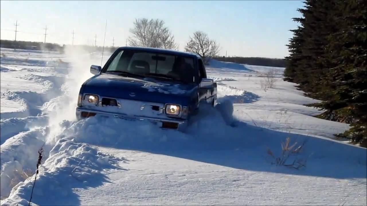 Nissan Hardbody 4x4 In The Deep Snow