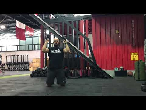 Functional Strength - Tall Kneeling Double Kettlebell Bottom up Press - ON AIR