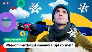 Waarom verdwijnt sneeuw altijd zo snel? | UITGEZOCHT #28