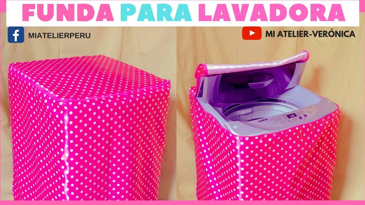 Como hacer una funda para lavadora tutorial youtube for Funda lavadora carrefour