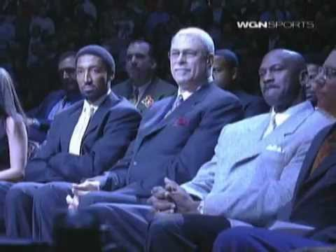 Scottie Maurice Pippen (Age 40): Chicago Bulls #33 Jersey Retirement Ceremony (December 9, 2005)