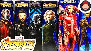 Avengers Infinity War Toys Power FX Titan Hero Series Figures Star-Lord Thor & Mission Tech Iron Man
