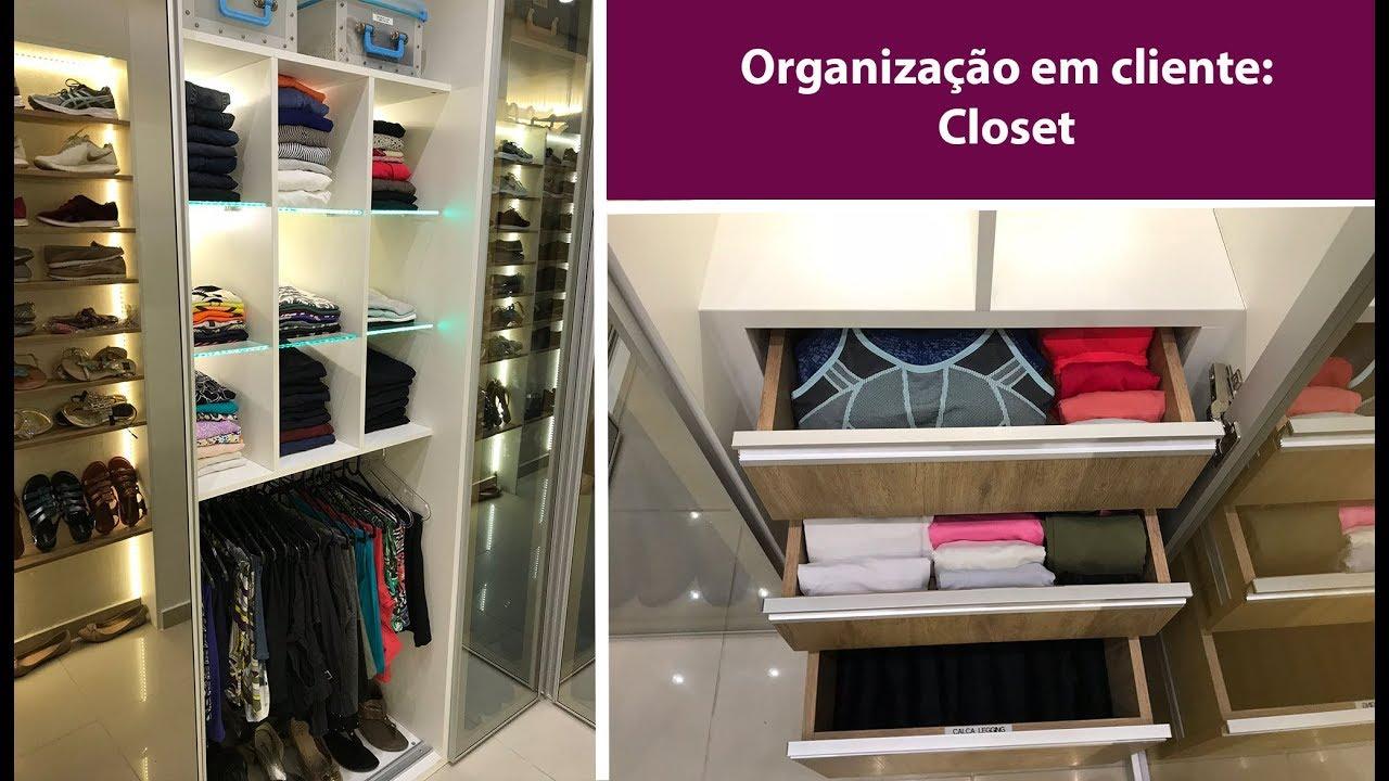 36597b45e2d4a Organização em cliente  Closet - YouTube