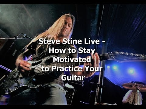 steve stine live discussion how to stay motivated to practice your guitar youtube. Black Bedroom Furniture Sets. Home Design Ideas