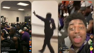 Kodak Black freaks out after Ravens make playoffs and celebrates in the locker room