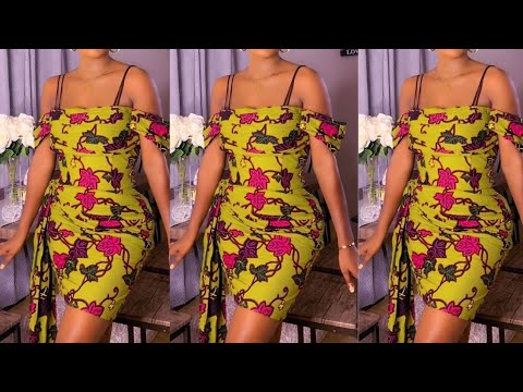 Download Ankara dress with Drapes: How to cut and sew. Easy DIY ankara short gown.