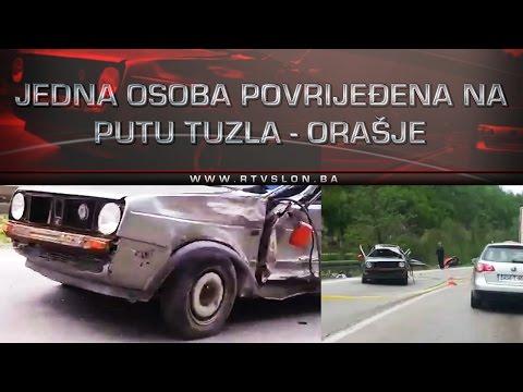 Jedna osoba povrijeđena na putu Tuzla - Orašje - 27.04.2017.