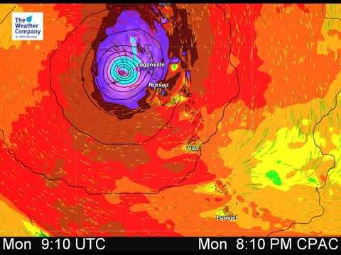 Vanuatu - Wind Animation for Severe Cyclone Harold