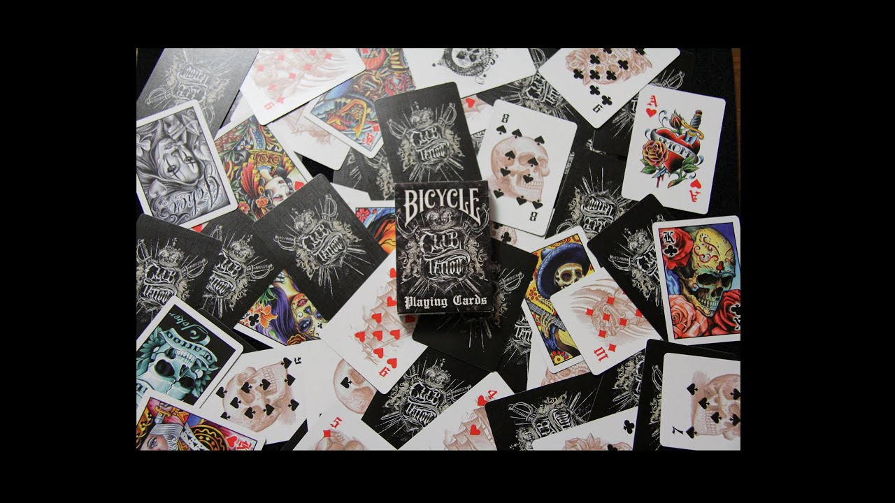 Bicycle Club Tattoo Deck Review - YouTube