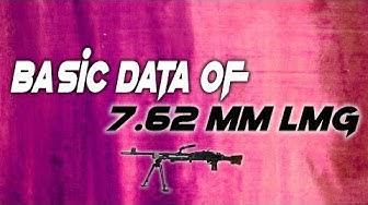 Basic data of 7.62 mm LMG || Technical Data