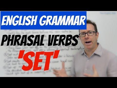 English grammar - Phrasal verbs with SET - verbos frasales
