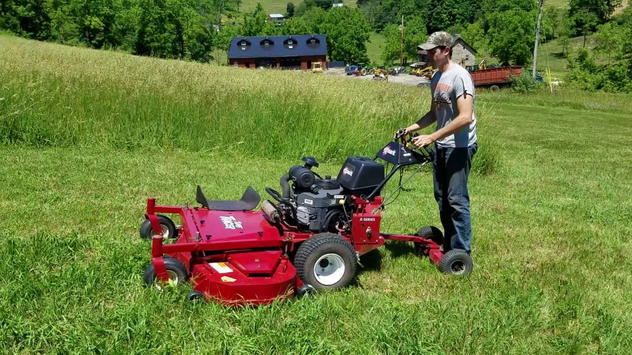 """Stand Behind Lawn Mower >> 2013 Exmark 60"""" Turf Tracer Walk Behind Commercial Lawn Mower For sale Inspection Video! - YouTube"""