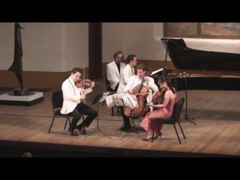 Brahms G minor Piano Quartet Live from Santa Fe 4/5