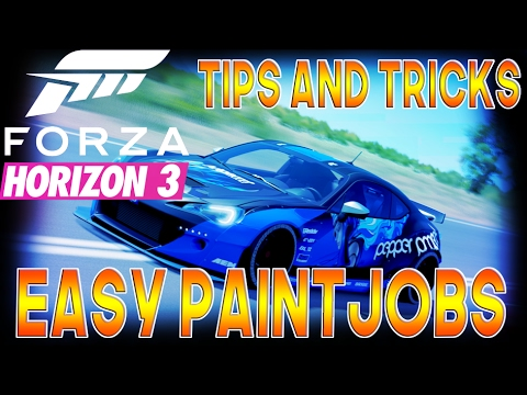 Forza horizon 3 easy simple paints how to make fh3 youtube