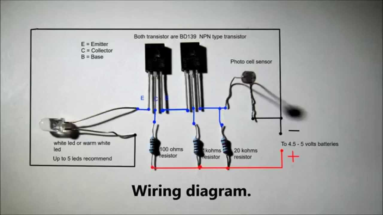 Automatic nightlight with full wiring diagram. - YouTube