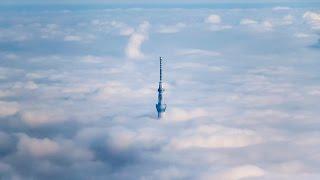 2016/3/8霧におおわれた東京 離陸すると一面の雲海にスカイツリーだけが...